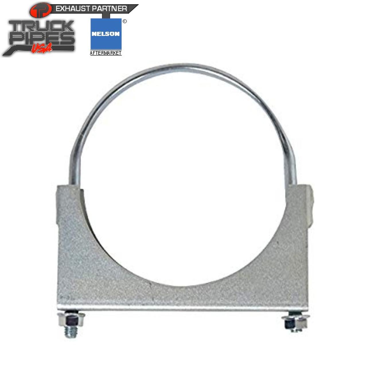 2 heavy duty standard u bolt exhaust clamp steel 90929k