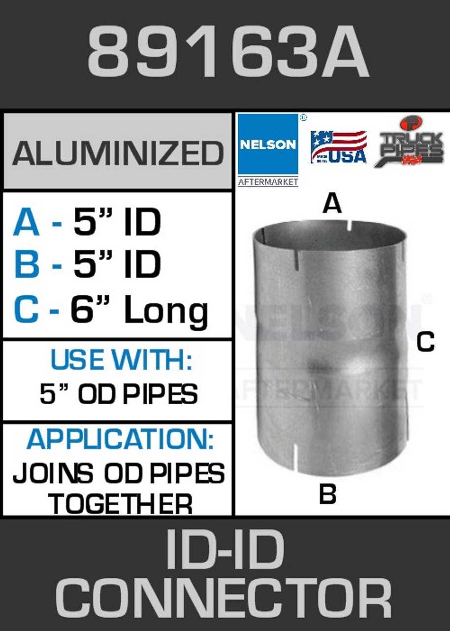 5 id id exhaust connector aluminized 89163a