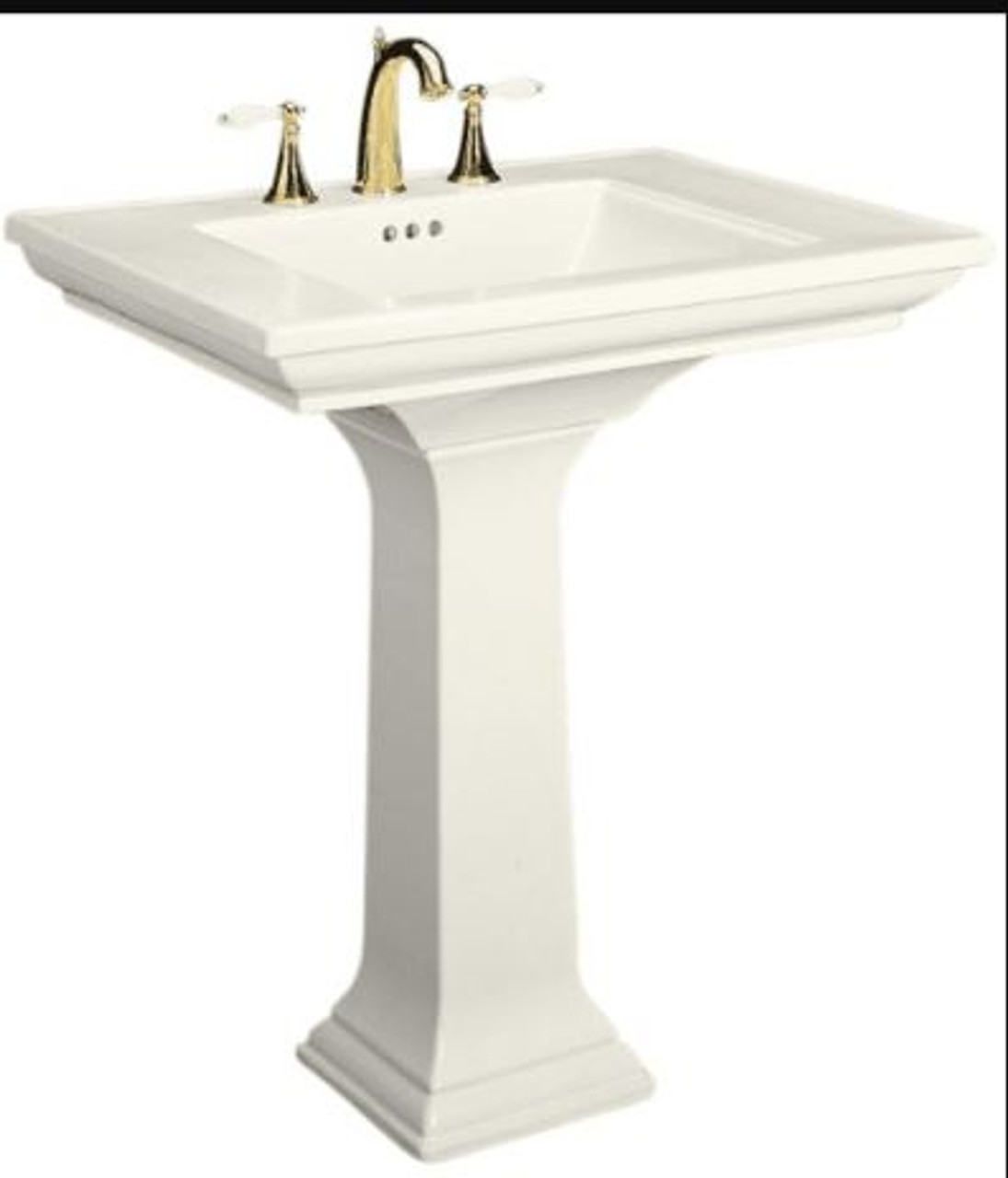 kohler memoirs pedestal lavatory with single hole faucet drilling