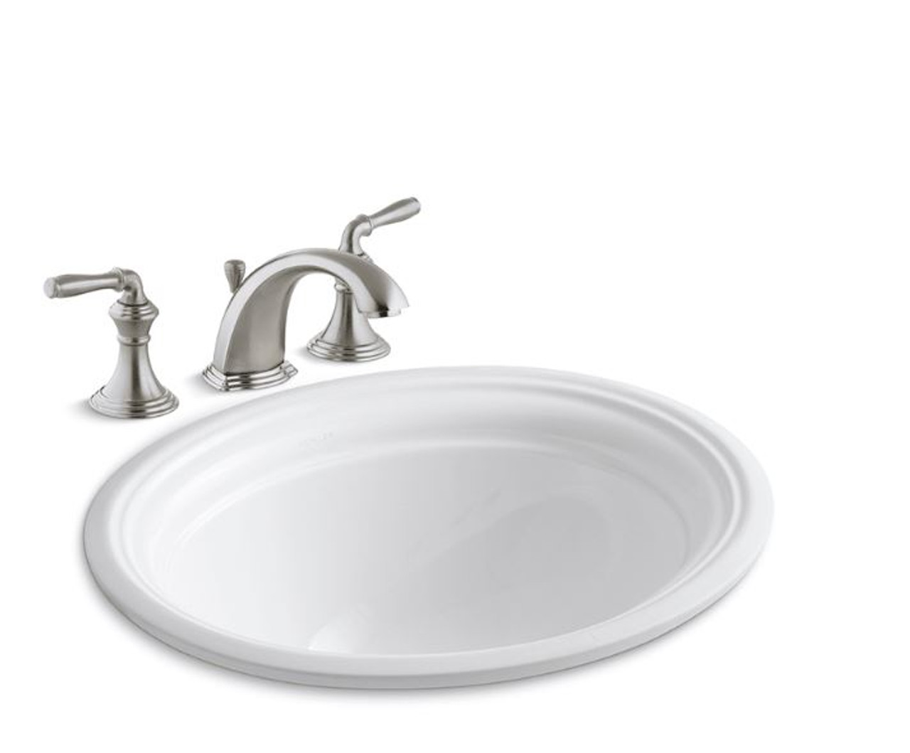 kohler devonshire 16 7 8 undermount bathroom sink with overflow and devonshire widespread bathroom faucet with pop up drain assembly