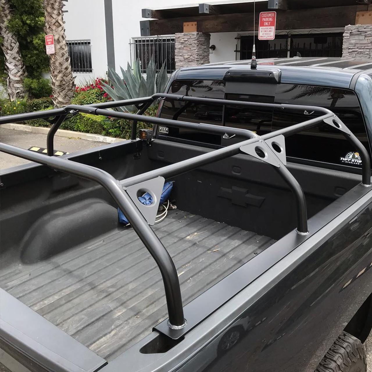tuff stuff roof top tent truck bed rack adjustable powder coated 51