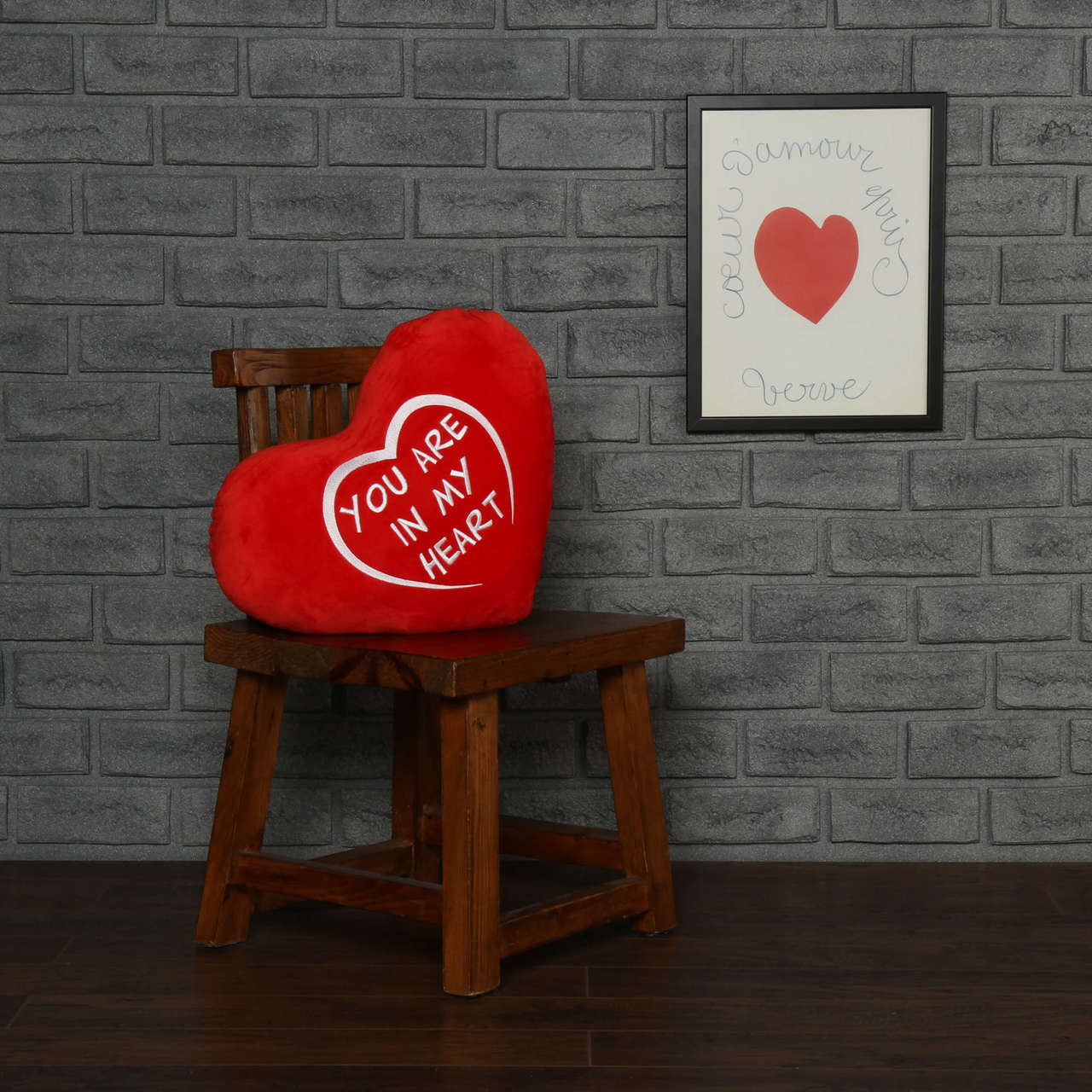 personalized greeting heart pillows you are in my heart and i love you