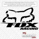 Motocross Car Decals Fox Racing Car Decal Anydecals Com