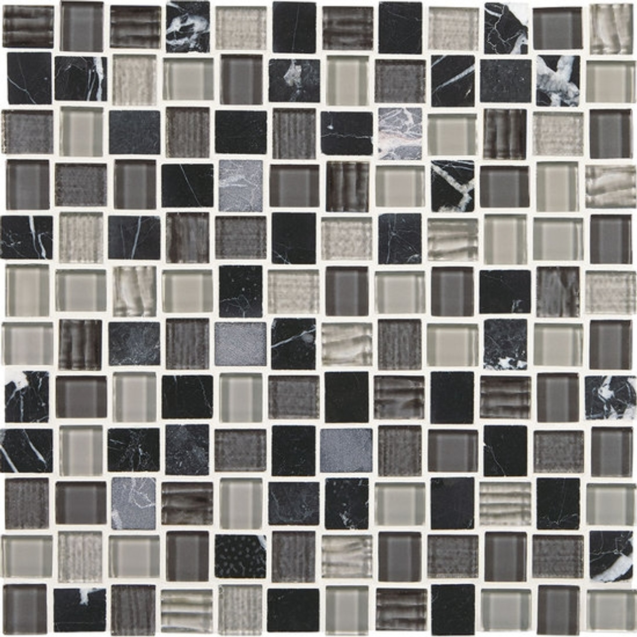american olean entourage marble weave mw05 colosseum nights blend 1 x 1 weave offset glass stone mosaic tile