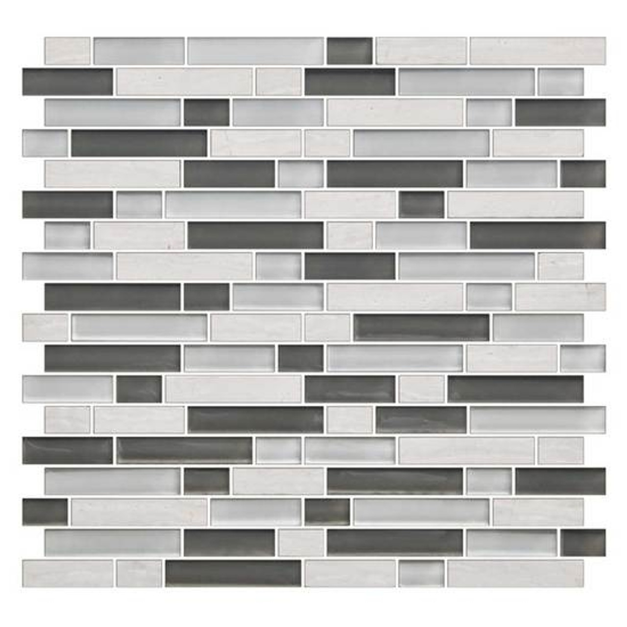 american olean color appeal blends c140 mountain morning blend 5 8 x random linear interlocking glass stone mosaic tile glossy sample