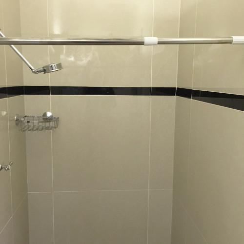 extendable shower curtain rail 70cm to 120cm chrome