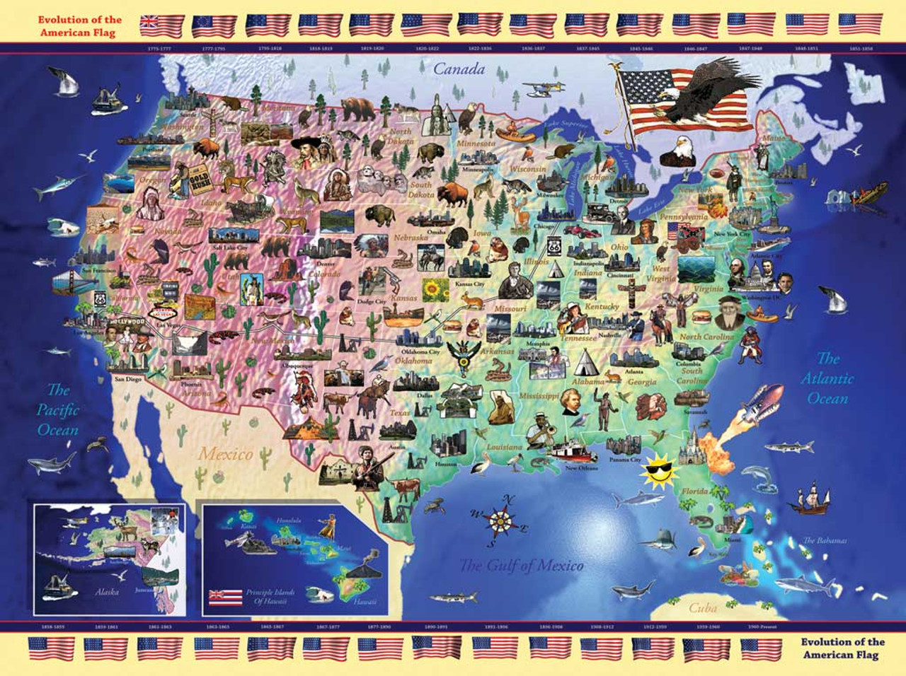 Experts say that challenging puzzles activate new parts of your brain to help you solve them. Usa Map 300pc Jigsaw Puzzle By Ravensburger Discon