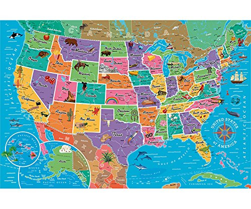 While artwork, piece size, and. Map Of The Usa 850pc Jigsaw Puzzle By Re Marks New