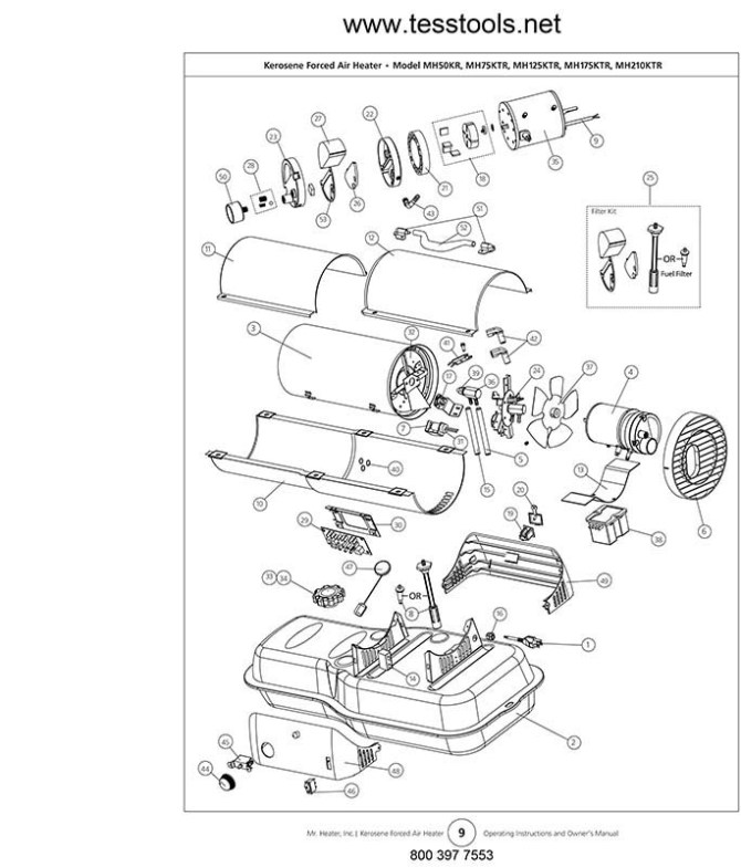 mr heater mh50kr parts list and wiring diagram