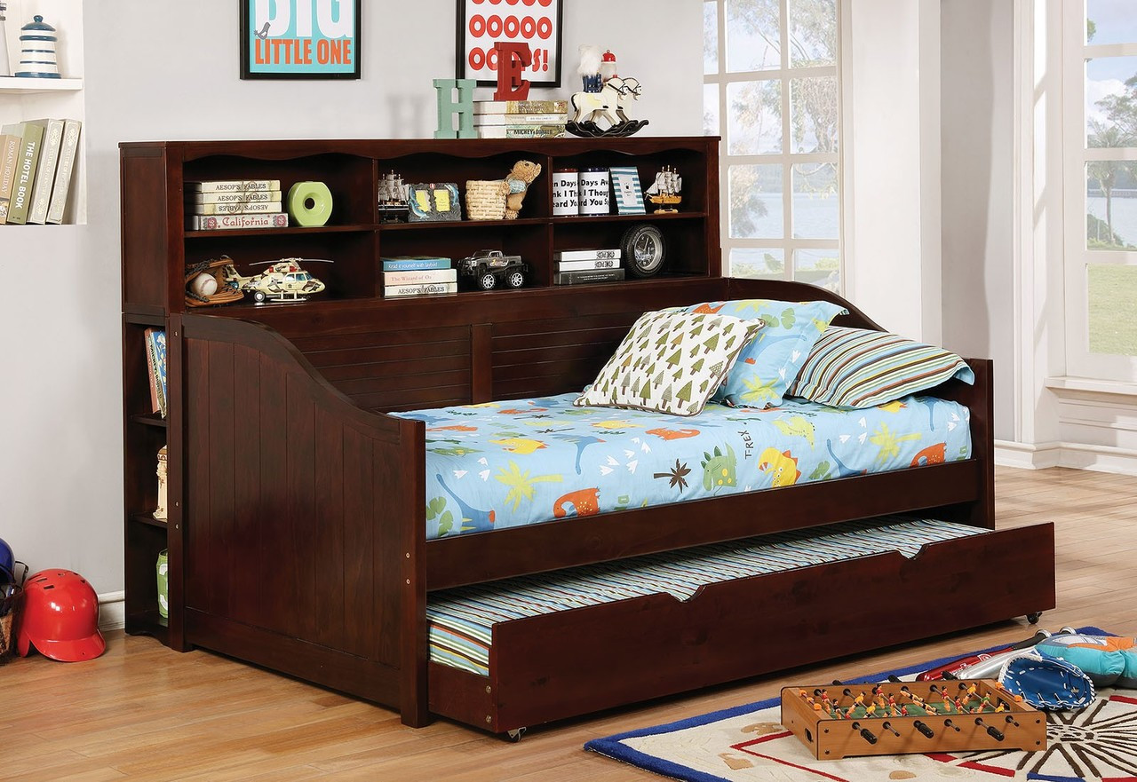 Ruby Bookcase Daybed With Trundle