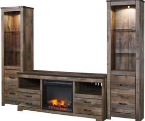 Trinell 3 Piece Wall Unit With Fireplace Cb Furniture