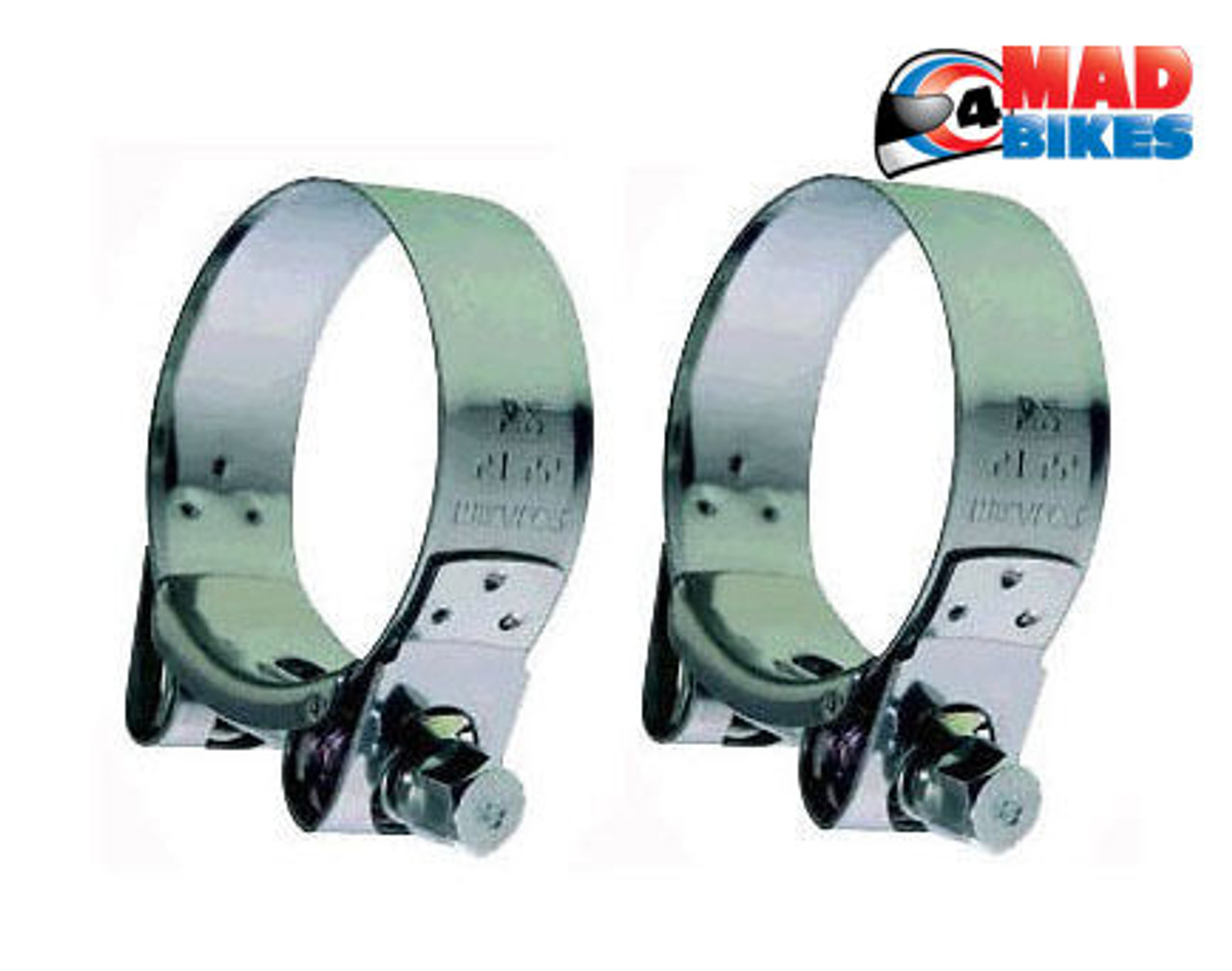 heavy duty mikalor stainless steel motorcycle exhaust clamps banjo clips 47 51mm