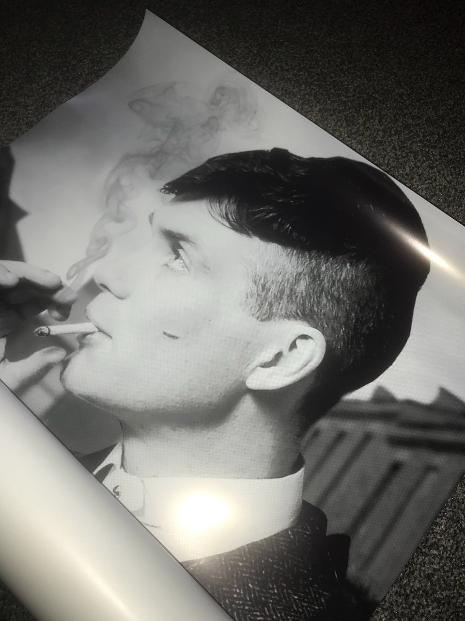 tommy shelby kiss canvas or poster wall decor art peaky blinders uk tv show smoking stocking filler present gift idea cillian murphy