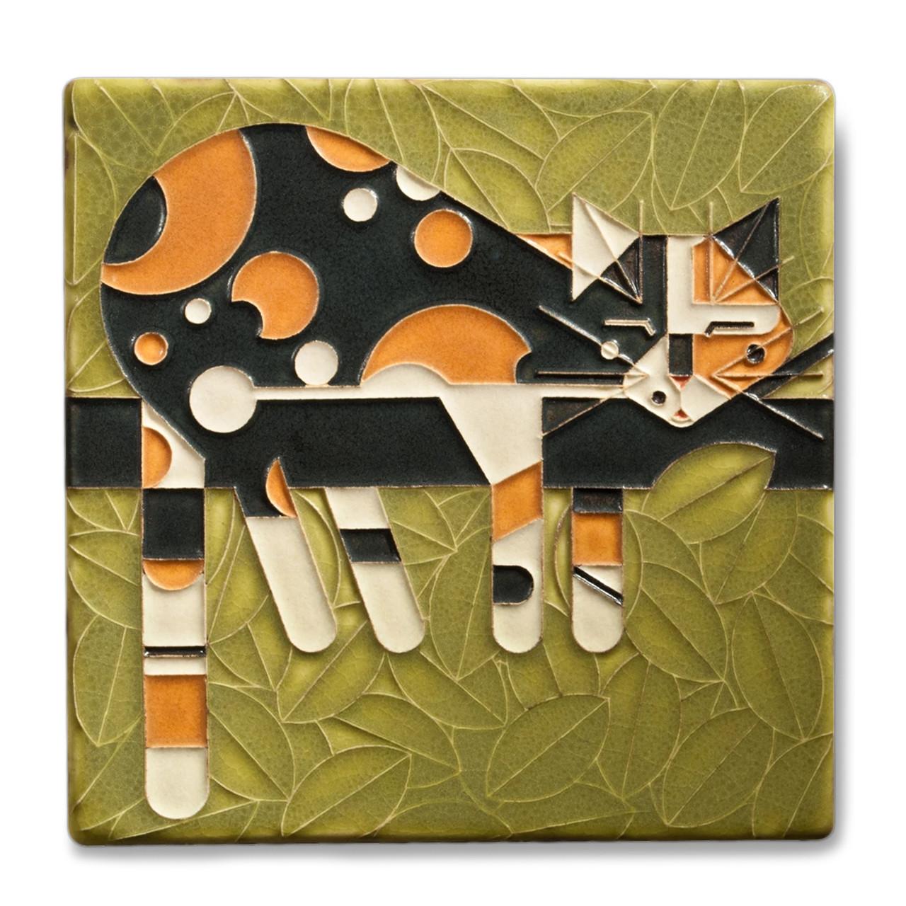 motawi tileworks charley harper limp on a limb tile 6x6