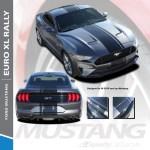 2018 2019 2020 2021 Ford Mustang Center Vinyl Matte Black Stripe