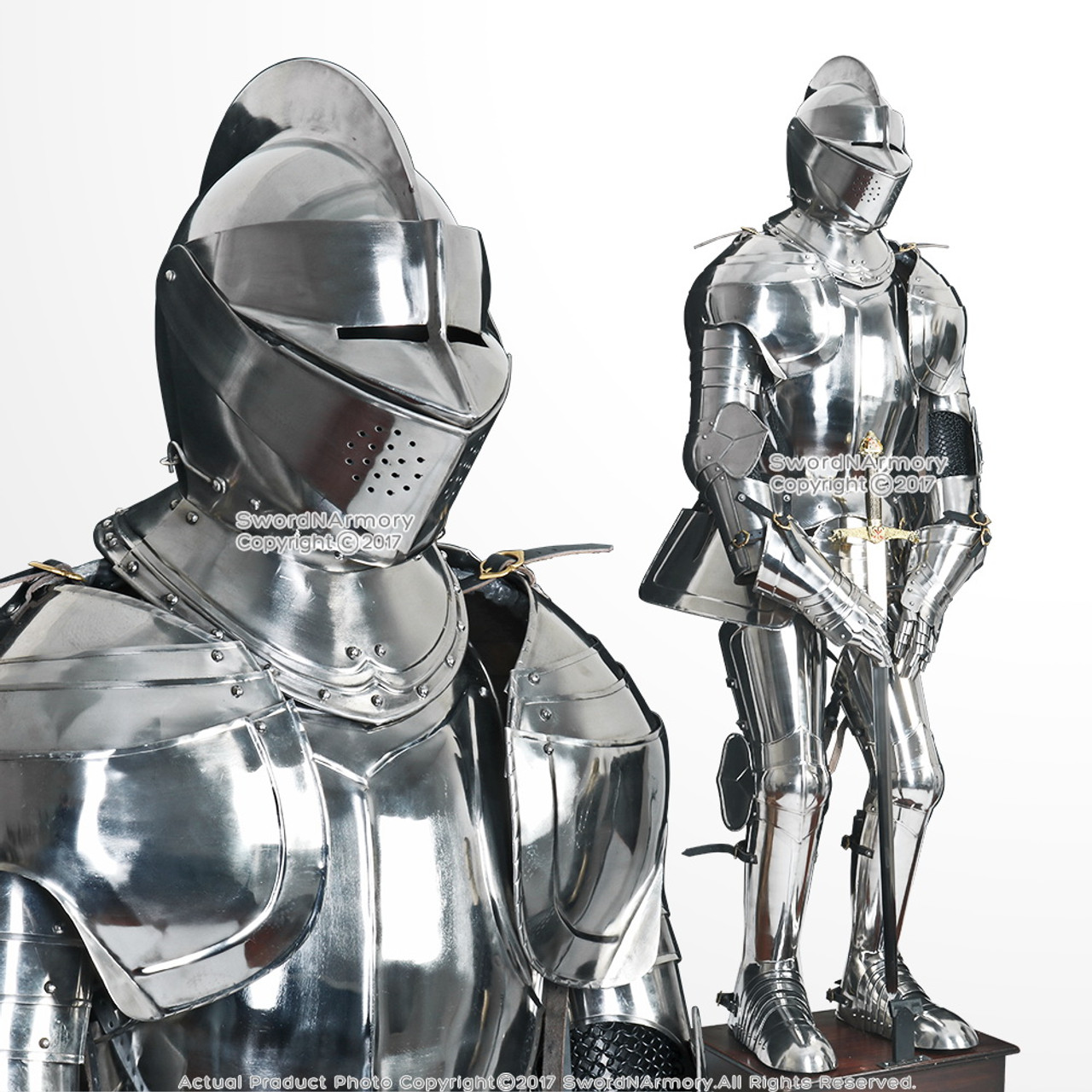 Sir Lancelot Wearable Medieval Knight Full Suit of Armor ...