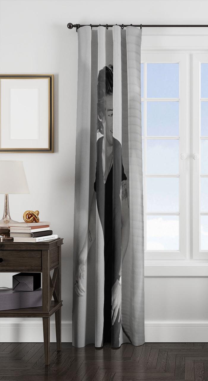 harry styles window curtain