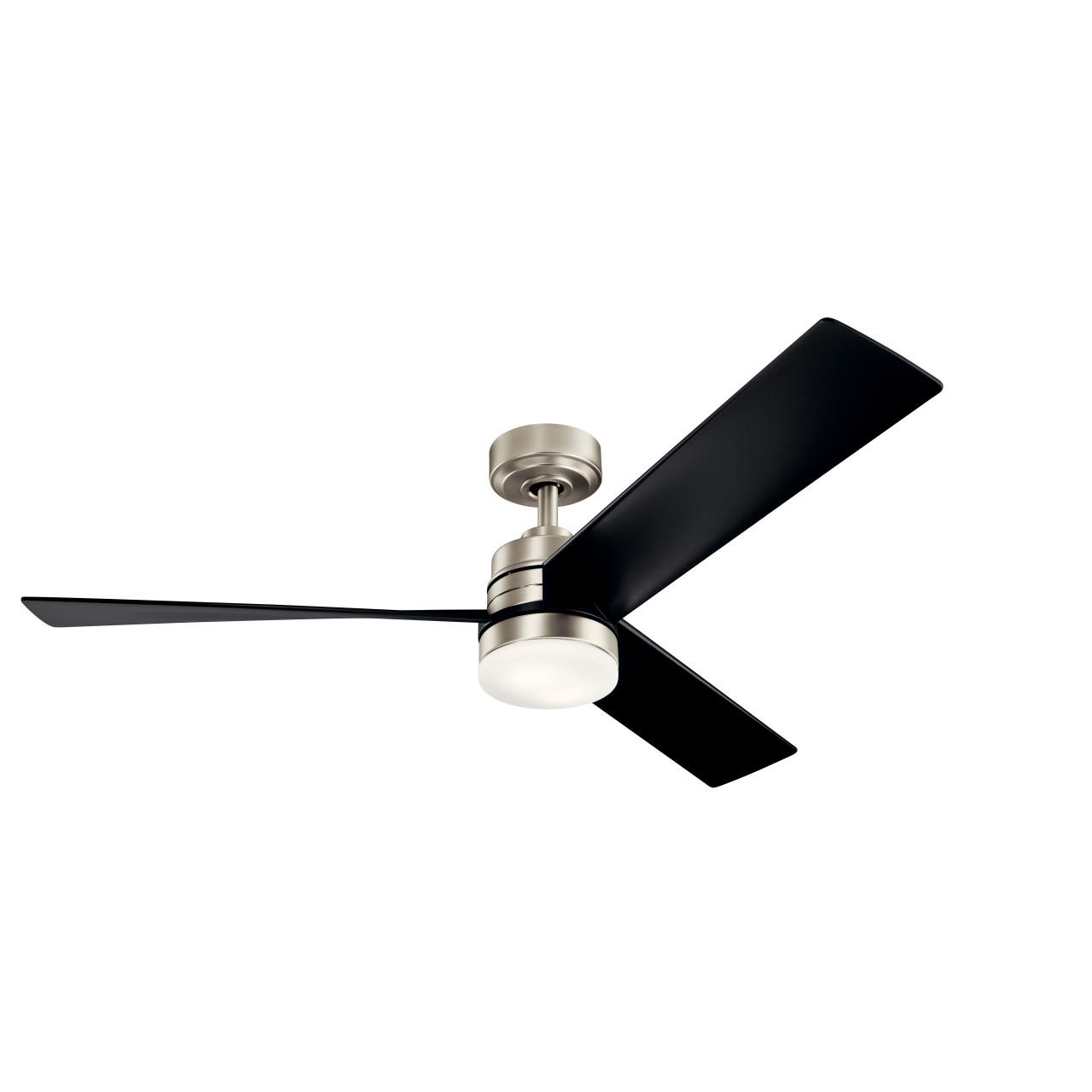 spyn 52 17w dimmable led ceiling fan by kichler