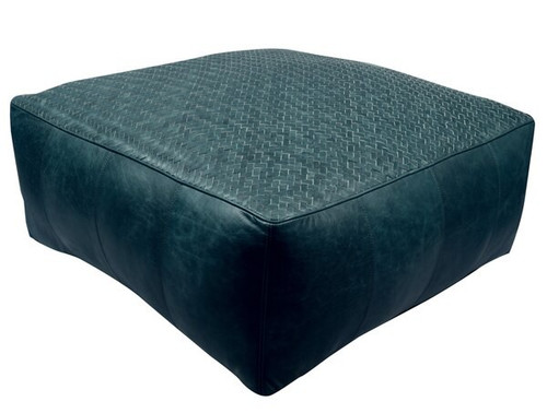 18 inch square leather upholstered
