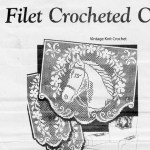 Filet Crochet Horse Head Pattern Chair Set Alice Brooks 6940