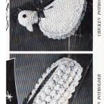 Crochet Corn Chicken Potholder Pattern Leaflet 1102