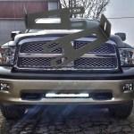 20 Straight Light Bar Mount For 2003 2014 Dodge Ram 2500 3500 4x4truckleds Com