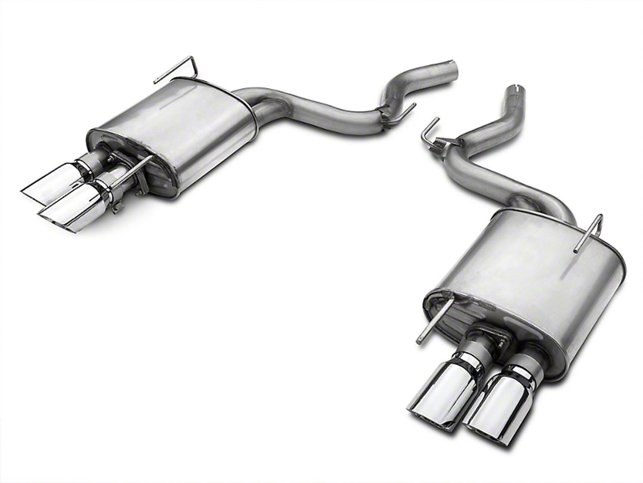 roush quad tip passive axle back exhaust