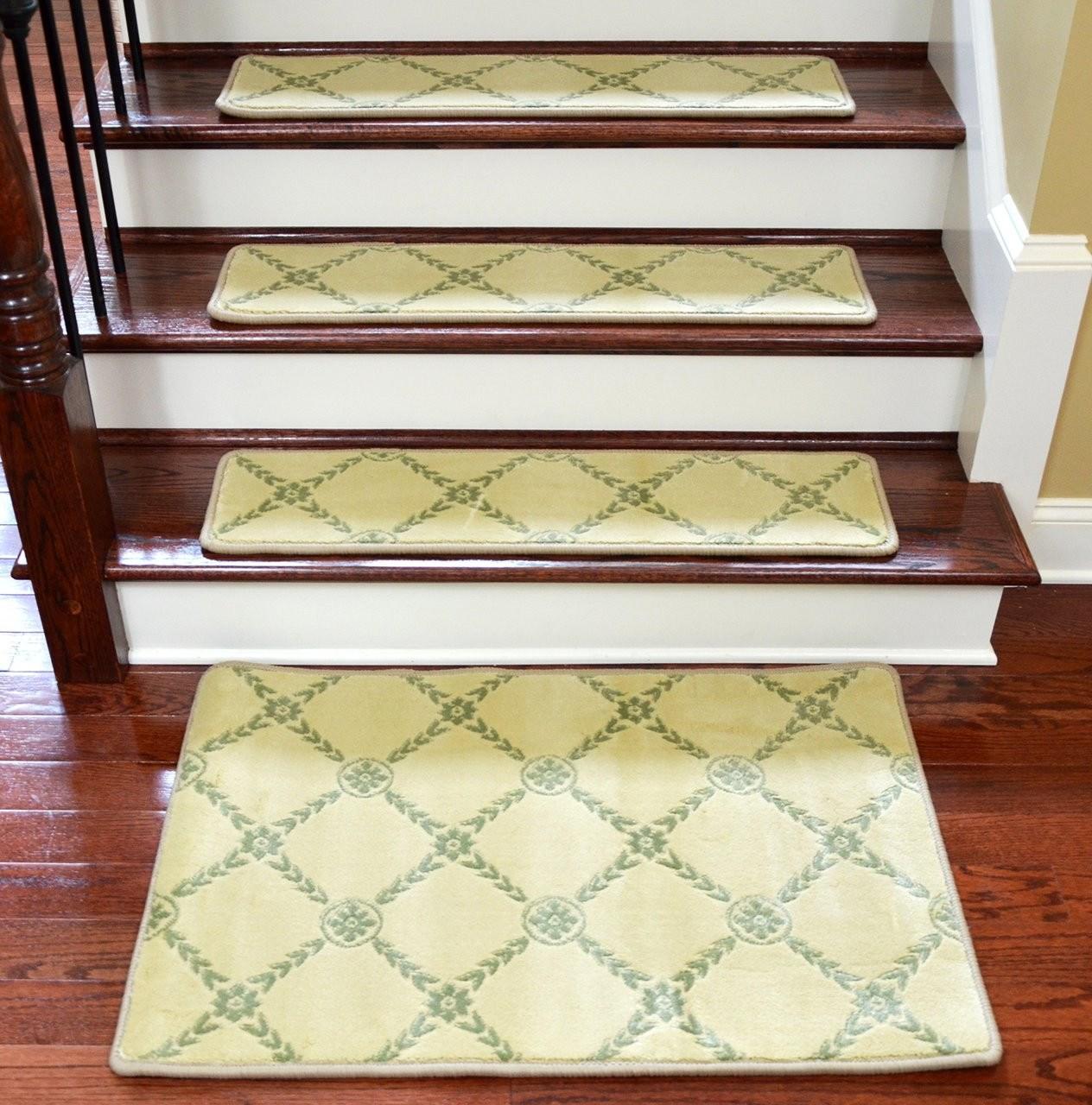 Dean Premium Non Skid Carpet Stair Treads Runner Rugs Duchess   Non Skid Carpet Stair Treads   Stair Runner   Bullnose Carpet   Flooring   Adhesive   Amazon