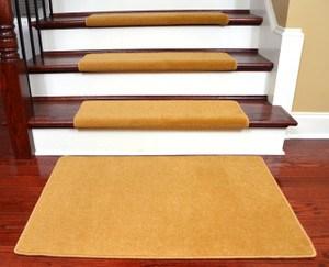 Bullnose Shaped Stair Treads Dean Flooring Company | Wedge Shaped Carpet Stair Treads | Beige | Spiral Stairs | Wood | Adhesive Carpet | Flooring