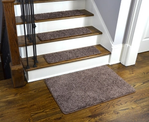 Washable Non Skid Rubber Back Stair Treads | Braided Stair Treads With Rubber Backing | Non Slip | Skid Resistant | Anti Slip | Heritage Farms | Slip Resistant