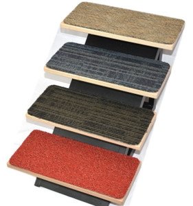 Non Skid Carpet Stair Treads Dean Flooring Company | Spiral Staircase Carpet Treads | Replacement | Carpeting | Semi Circle | Interior | Double Winder Staircase