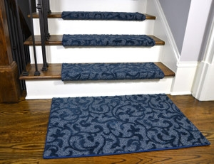 Carpet Stair Treads Runner Rugs – Dean Flooring Company   Blue Carpet On Stairs   Wooden   Grey Stair White Wall   Antelope   Geometric   Gray