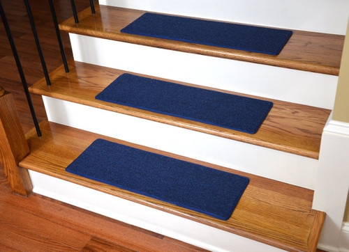 Dean Diy Carpet Stair Treads 27 X 9 Navy Blue Set Of 13 Plus   Navy Blue Stair Treads   Wayfair   Non Slip   Longshore Tides   Rug Stair   Stair Runners