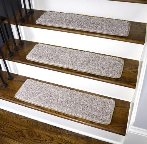 Dean Washable Non Slip Carpet Stair Treads Macadamia Beige Set   Beige Carpet On Stairs   Pattern   Dark Beige   Nice   Bound Edge   Hardwood Transition