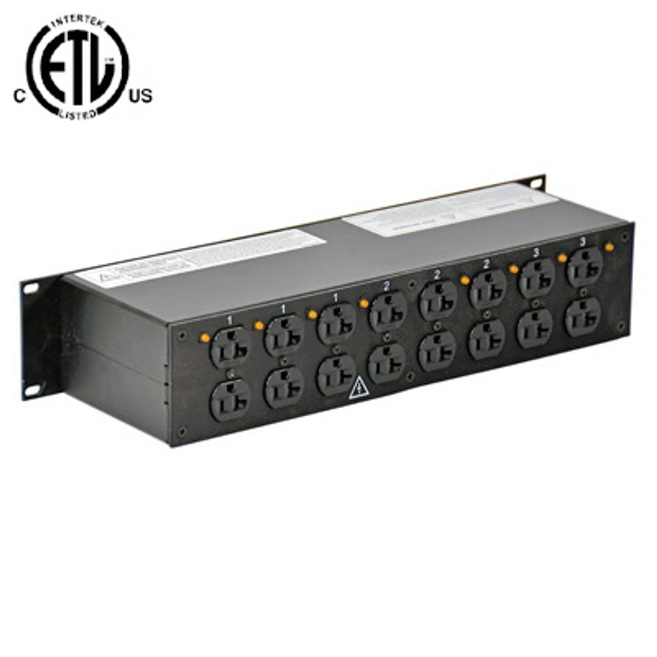 lex 2ru rack mount power distribution l21 30 in thru to 8 duplexes