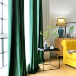 Pair Of Velvet Curtains In Emerald Green Custom Curtains