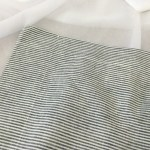 Subtle Black And White Ticking Striped Linen Shower Curtain
