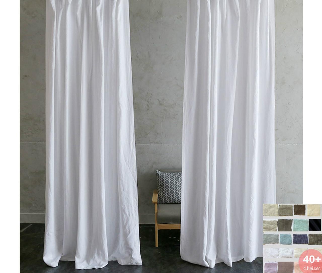natural linen curtains pick your color