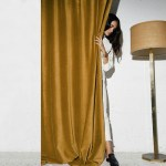 Pair Of Velvet Curtains In Honey Gold Custom Curtains