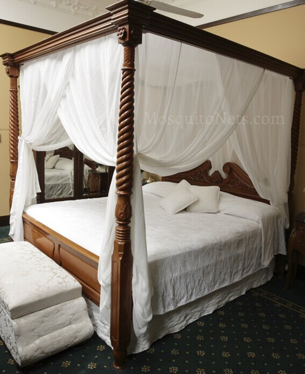 pure 100 silk bed canopy box king