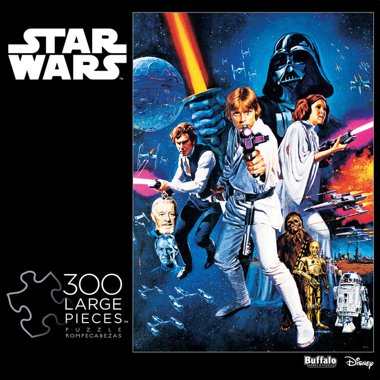 star wars a new hope movie poster 300 large piece jigsaw puzzle