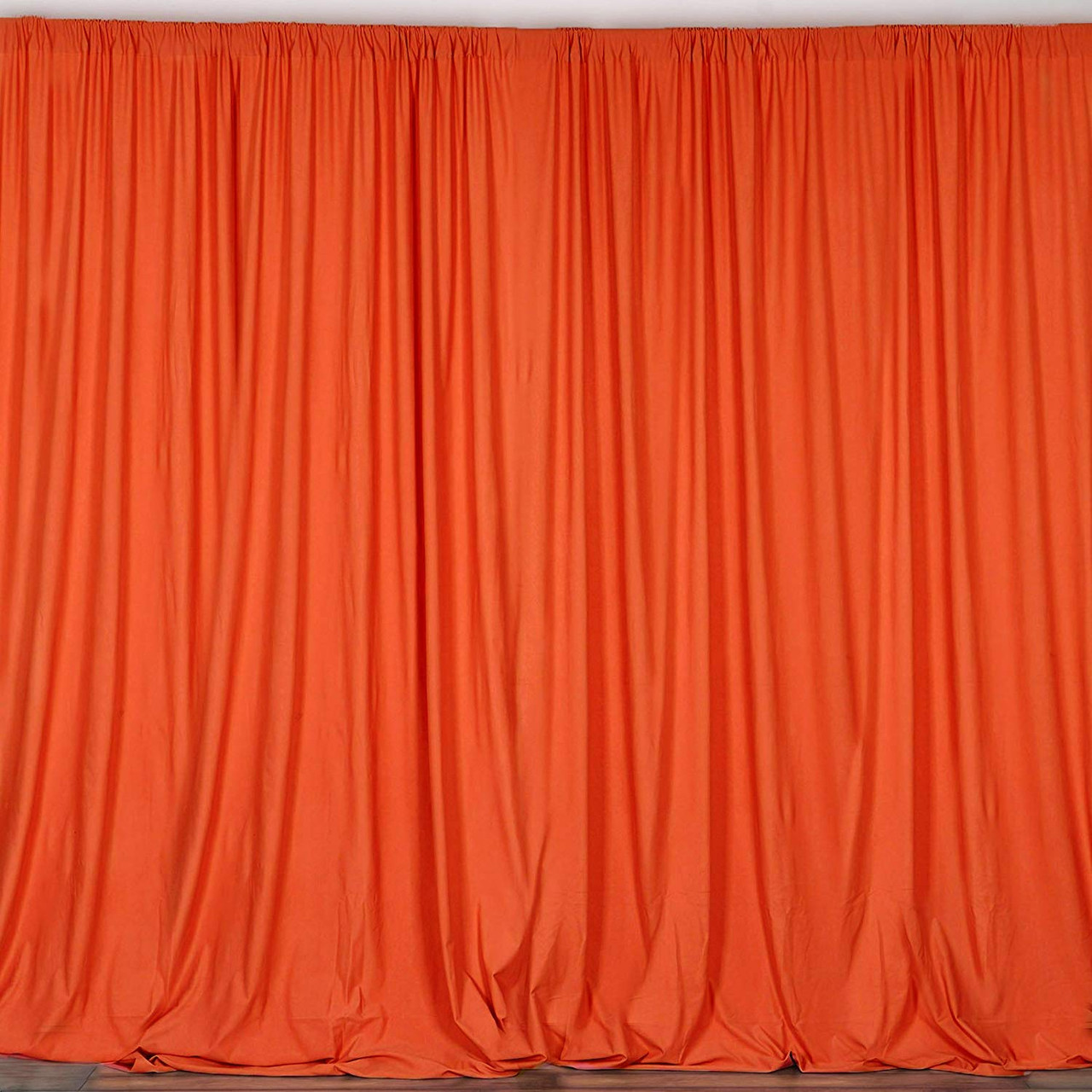 2 pack 10 feet polyester backdrop drapes curtains panels with rod pockets wedding ceremony party home window decorations orange
