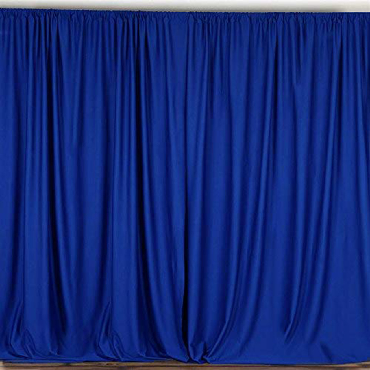 2 pack 10 feet polyester backdrop drapes curtains panels with rod pockets wedding ceremony party home window decorations royal blue