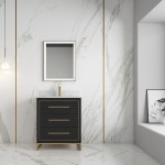 Alma Barsalona 30 Bathroom Vanity Dawn Grey Golden Brass Hardware Alma Premium Vanities