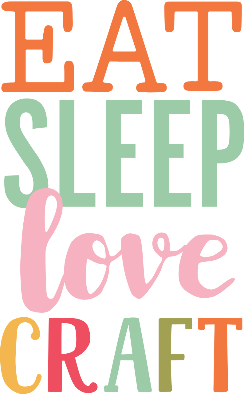 Download Eat Sleep Love Craft SVG Cut File - Snap Click Supply Co.