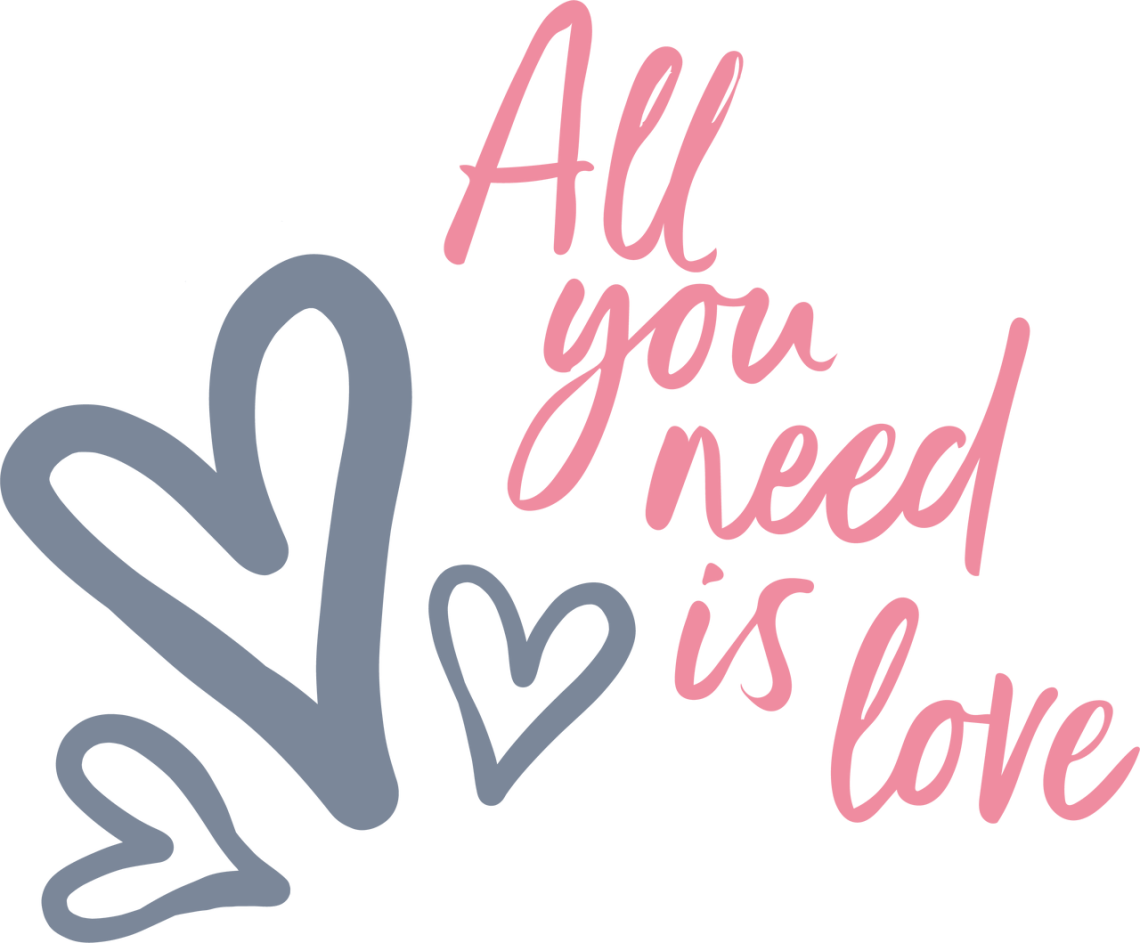 Download All You Need Is Love SVG Cut File - Snap Click Supply Co.