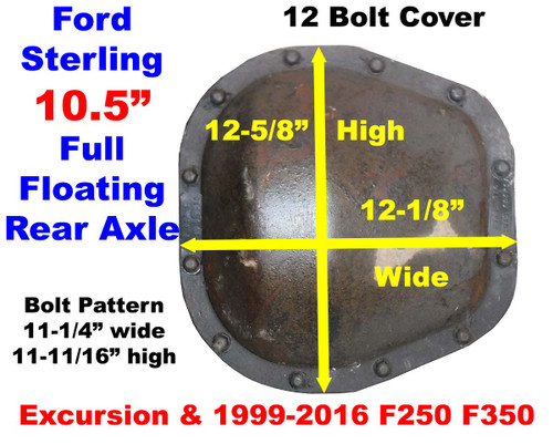 19992016 Ford Sterling Rear Axle Identification | Ford Rear Axle Identification Guide  Torque