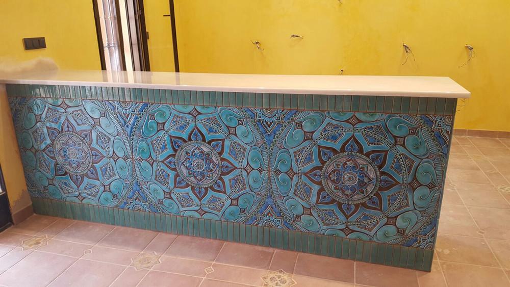 ceramic mosaic art wall mural