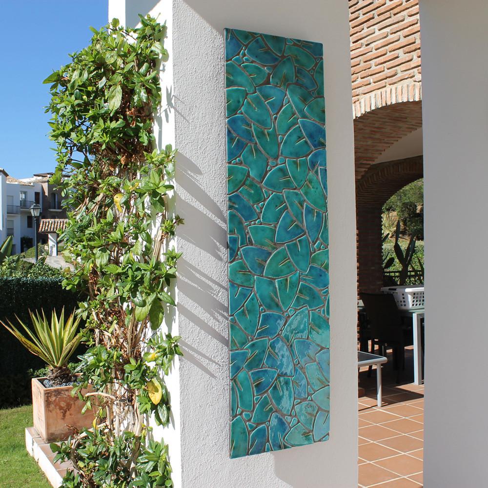 wall art made from ceramic mosaic art