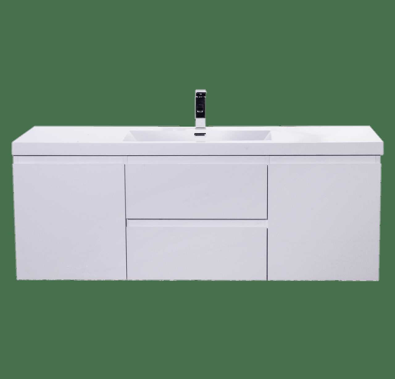 moreno mob 60 single sink high gloss white wall mounted modern bathroom vanity with reeinforced acrylic sink